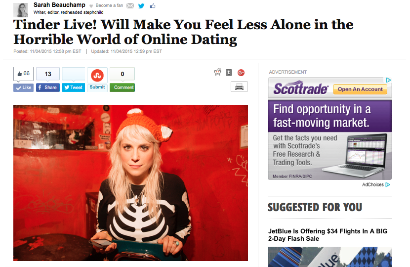 Tinder Live - Huffington Post